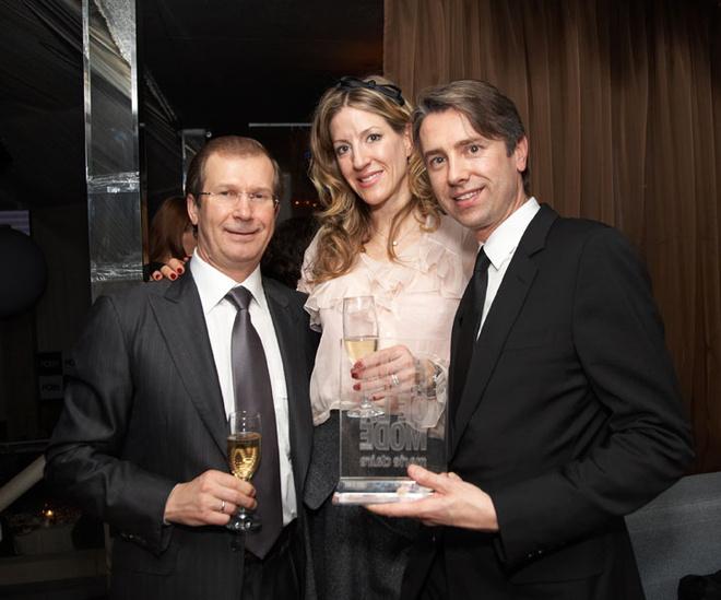 Генеральный менеджер Dior Россия Пьер де Мэгре с женой Ирис и Виктор-Шкулев (HFS)
