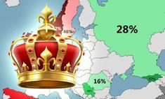 Карта: какие европейские страны не прочь восстановить монархию