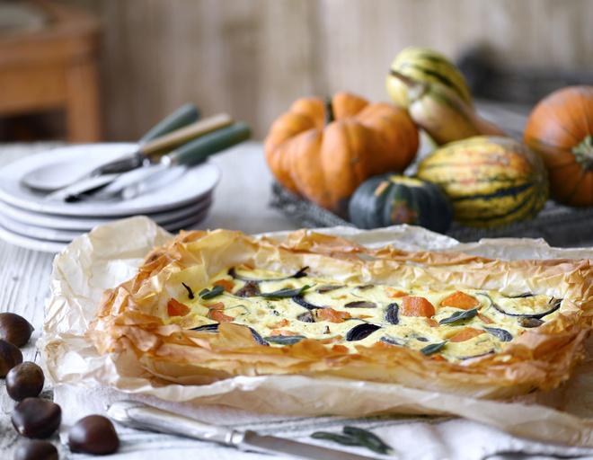 Пирог из тыквы с творогом рецепт 78