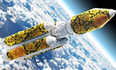Вот как выглядит ракета-носитель «Союз», расписанная под хохлому