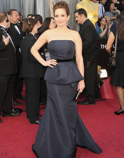 """Тина Фей (Tina Fey) на """"Оскаре-2012"""""""