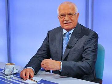 Президент Чехии Вацлав Клаус украл ручку