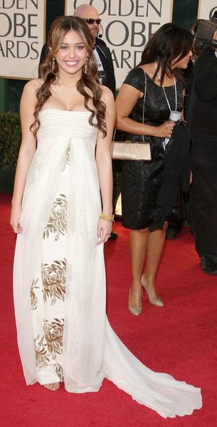 Майли Сайрус и платье от Marchesa