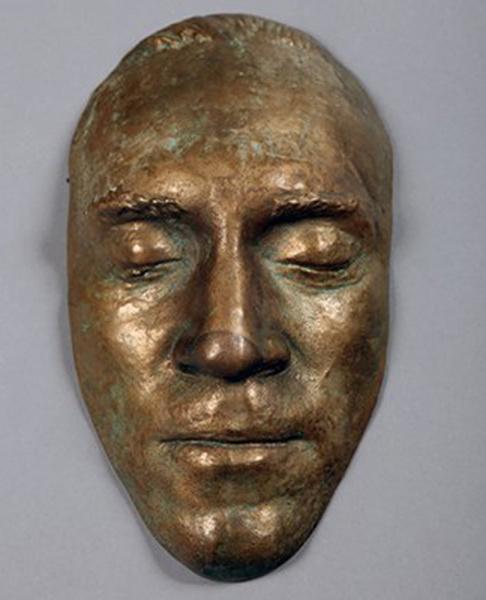 Бронзовая посмертная маска Высоцкого, фото
