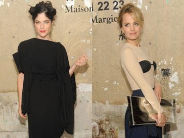 Сельма Блэр (Selma Blair) и Мина Сувари (Mena Suvari) на презентации коллекции Martin Margiela для H&M