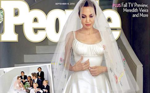 Появились первые свадебные фото Джоли и Питта