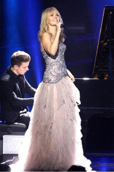 Валерия в платье которое ей подарил баскову