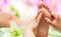 Массаж ног воздействием на жизненно важные точки