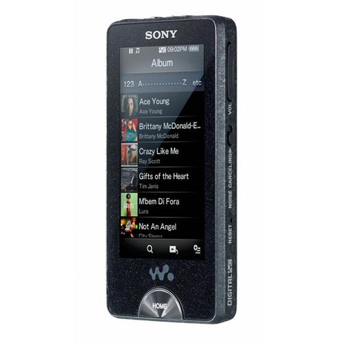 Плеер Sony NWZ-X 1050B оснащен сенсорным дисплеем, поддерживает Wi-Fi и такие форматы, как MP3, WMA, MPGE4, WMV, и другие.