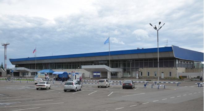 пассажирский Терминал 1 в красноярском аэропорту Емельяново