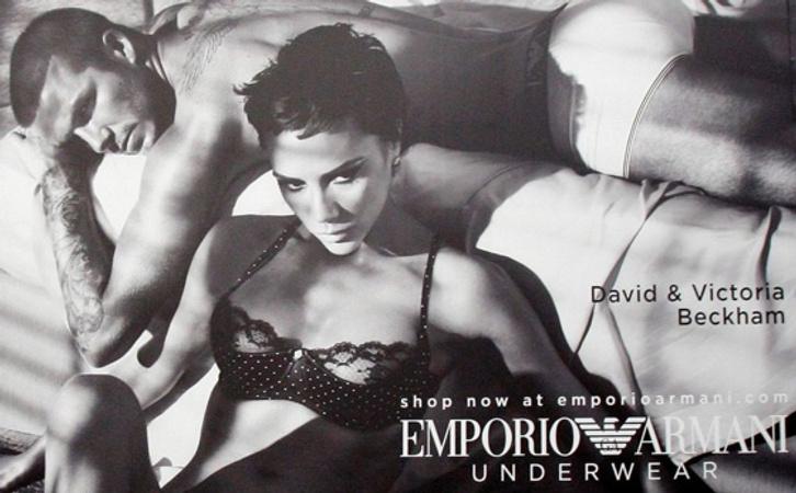 В рекламной кампании нижнего белья Emporio Armani