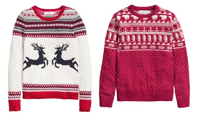 Женский свитер H&M, 1499 руб.; мужской свитер H&M, 1999 руб.