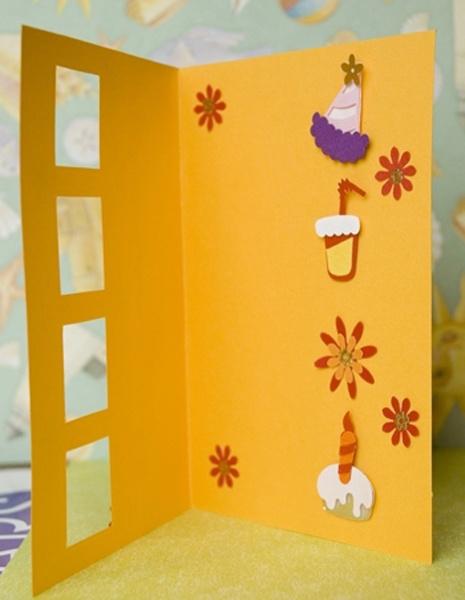 Как украсить открытку на день рождения своими