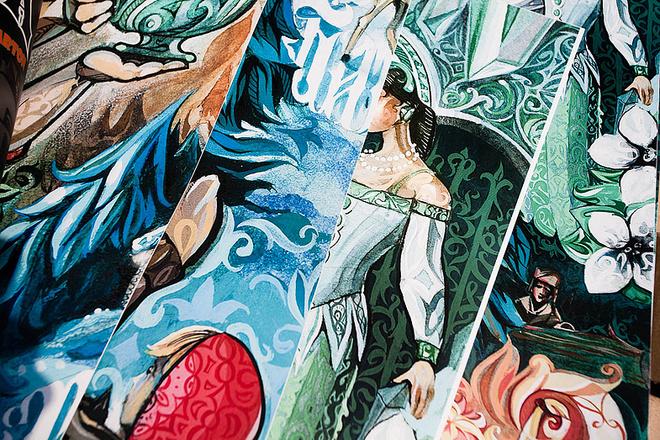 Картина «Сказы Бажова», фестиваль «Стенограффия», фото