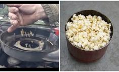 эксперимент русских мужиков приготовить попкорн автомобилем видео