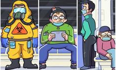 5 типов пассажиров ковидного метро: злободневный комикс от российского автора