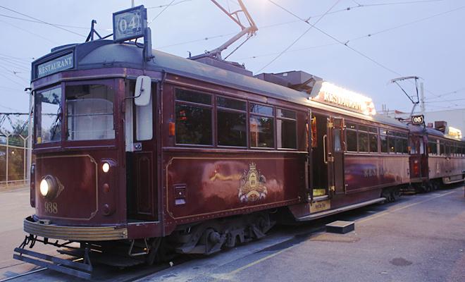 Трамвай-ресторан в Мельбурне