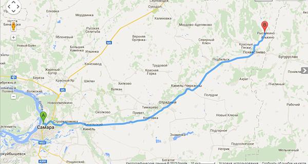 как доехать до села Рысайкино карта