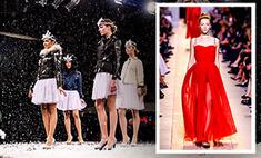 Девушка в красном на Неделе моды в Париже – кто она?