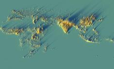 красивые трехмерные карты мира показывающие распределение население земли
