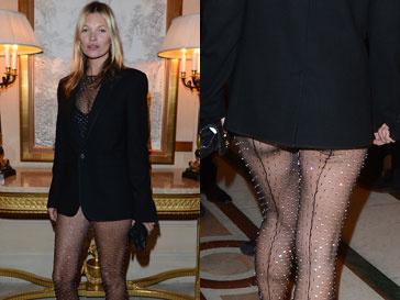 Кейт Мосс (Kate Moss) в прозрачном комбинезоне на презентации книги Карин Ройтфельд