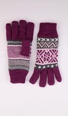 Вязаные перчатки с узором