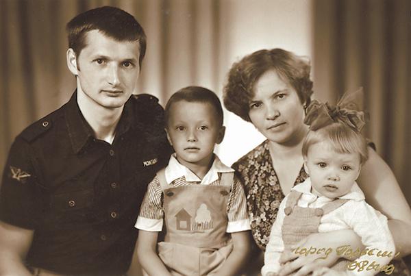 Екатерина Вилкова с семьей