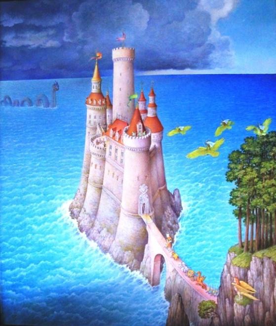 Одна из картин в мастерской художника