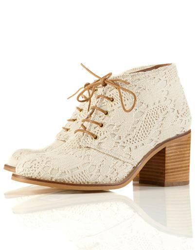 Кружевные ботинки TopShop