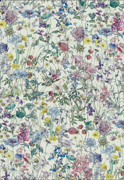 Ткань из коллекции Wild Flowers, дизайн Су Блэквелл, Liberty Art Fabrics.