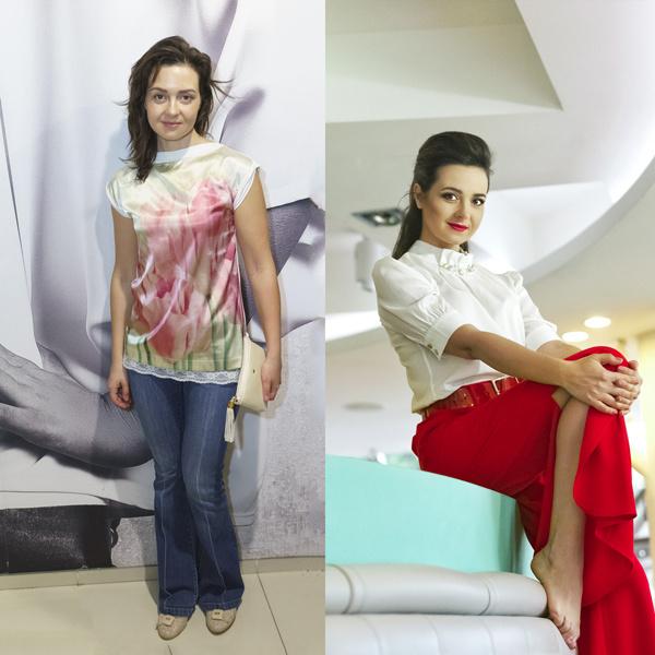 До и после: Елена Теплова
