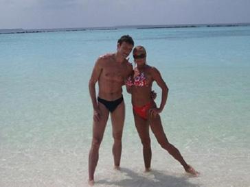 Анастасия Волочкова и Ринат Арифулин на Мальдивах