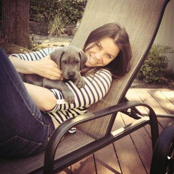 Бриттани Мейнард (Brittany Maynard) со своей собакой Чарли