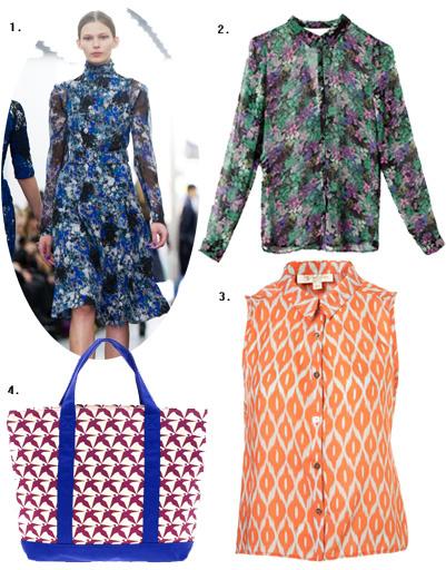 1. Erdem; 2. блуза Pull and Bear; 3. блуза Topshop; 4. сумка Eley Kishimoto