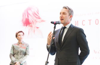 Генеральный директор Pierre Fabre Russia Режис Кулон и beauty-директор журнала Marie Claire Анастасия Харитонова