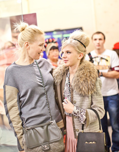 Юлия Бордовских с дочерью Марусей