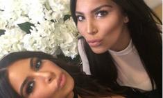 Как две капли: Ким Кардашьян встретила своего двойника