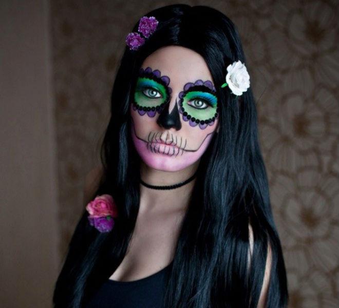 Омск, стиль, Хеллоуин, прическа, макияж, make up