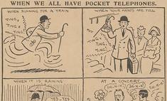 Пророческая карикатура про мобильники из 1923 года