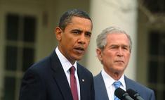 Барак Обама и Джордж Буш-младший сравнялись по популярности