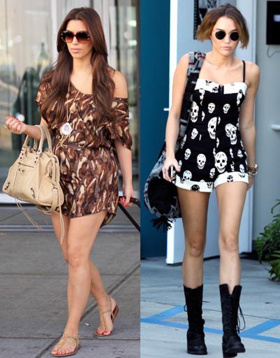 Ким Кардашян (Kim Kardashian) и Майли Сайрус (Miley Cyrus)