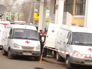 Последствия взрыва в московском метро 29 марта 2010 года.