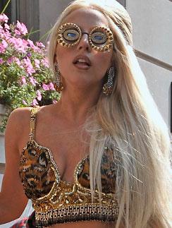 Леди ГаГа (Lady GaGa) примерила один из трендов осени-2011 - леопардовый принт