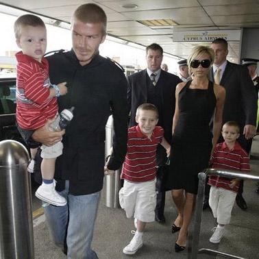 Семейство Бэкхем прибыло в Америку (2007)