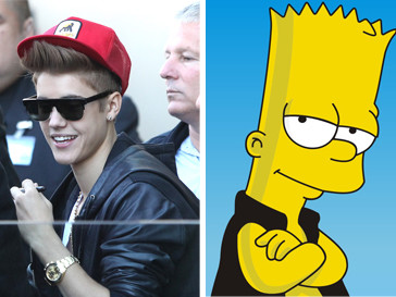 Джастин Бибер (Justin Bieber) и Барт Симпсон