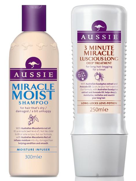Шампунь для сухих волос Miracle Moist и маска для длинных волос 3 Minute Miracle Luscious Long от Aussie