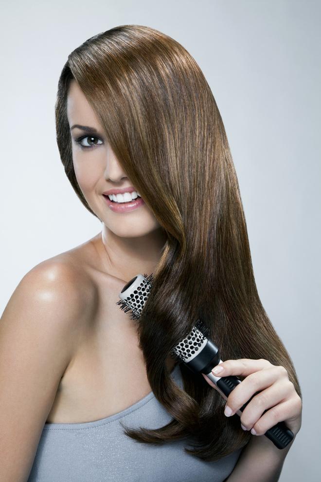 укладка волос брашингом
