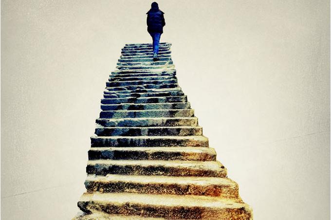 Лестница и человек