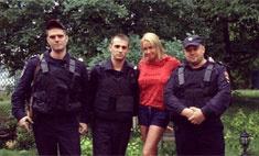 Волочкова встретила утро с полицией