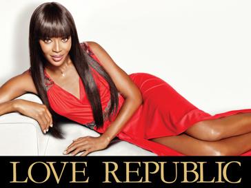 Наоми Кэмпбелл (Naomi Campbell) рекламирует платья Love Republic